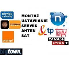 MONTAŻ USTAWIENIE anten satelitarnych i DVB-t, ustawianie